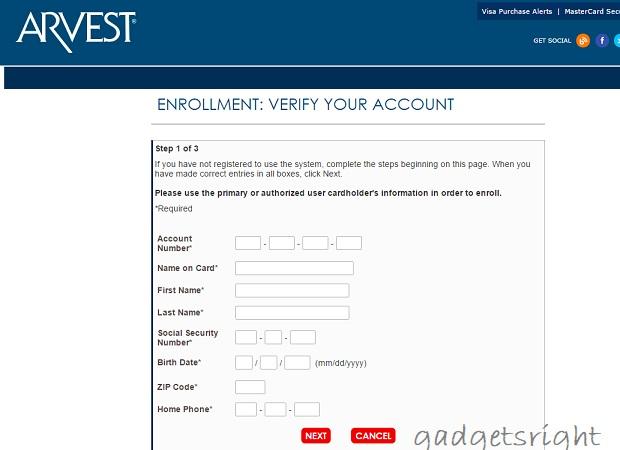 ABCC Arvest Credit Card