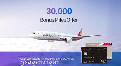 Asiana Airlines Visa Signature Credit Card