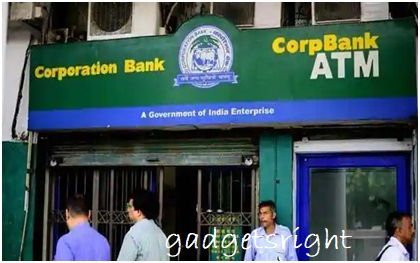 Corporation Bank Debit Card